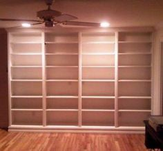 Custom Made Built-in Book Case- we need this in the basement...