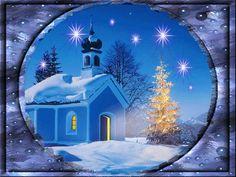 paesaggi di Natale con animazioni