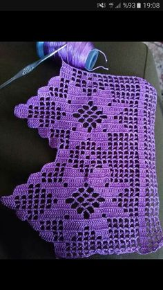How To Make Lovely Lace Crochet Motif Crochet Edging Patterns, Crochet Borders, Crochet Squares, Filet Crochet, Irish Crochet, Crochet Stitches, Diy Crafts Crochet, Crochet Home, Easy Crochet