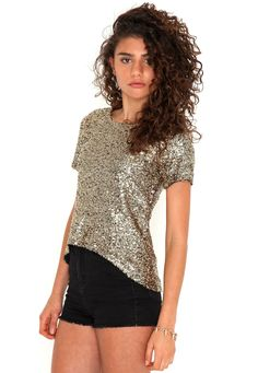 9469807bbae34 Desirae Premium Sequin Asymmetric Top-- thrown over any scruffy jeans    instant christmas cocktails
