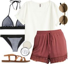 Spencer Hastings inspired pool day outfit por liarsstyle usando summer shoes
