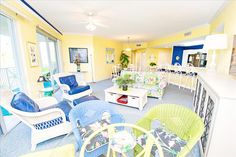 Inn at Blue Mountain 223 is a stunning 3 bed, 3 bath, condo that sleeps 10. With 1625 S.F., you can spread out to enjoy the tropical view! With one free bike rental per day, you can bike to Redfish Village!