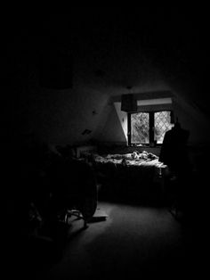 Day 29: Black & White. The last of the day's light was coming into my room - luckily I had my camera in my hand to capture it! By Phthalo Green