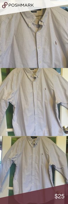 Men's Ralph Lauren classic fit shirt Purple stripe classic fit shirt in XXL in very good condition. All buttons and washable Ralph Lauren Shirts Casual Button Down Shirts