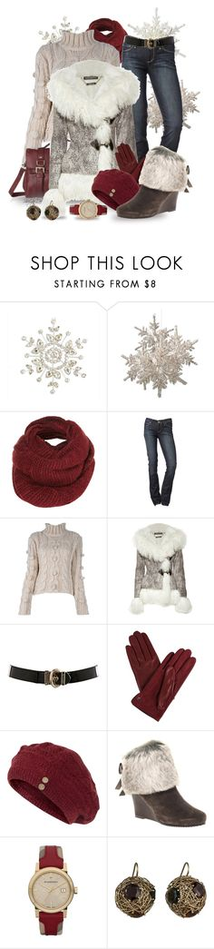 """""""A Walk Through the Snow"""" by sheryl-lee ❤ liked on Polyvore featuring Topshop, Paige Denim, Dondup, Alexander McQueen, Karen Millen, Lanvin, Fat Face, Chinese Laundry, Burberry and Alexis Bittar"""