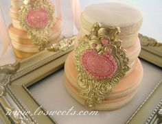 cookie-cakes with jewel accent by L sweets, via Flickr