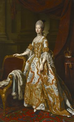 "history-of-fashion: ""ab. 1769 Sir Nathaniel Dance-Holland - Portrait of Queen Charlotte of Mecklenburg-Strelitz """