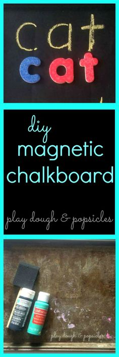 DIY Magnetic Chalkboard for kids or adults. use in kitchen, menu board, or preschool tool for kids.