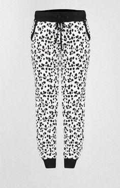 Γυναικείο παντελόνι φόρμας με τύπωμα | Γυναίκα - Φόρμες | Metal Λευκό