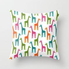 Giraffes Throw Pillow.