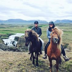 Gary & Katelyn went #HorsebackRiding while on #VacationInIceland ! #Iceland #Adventure #WohoCamper #CamperStories #CamperRentalIceland #Horses #Riding #RVrental #MotorhomeHoliday