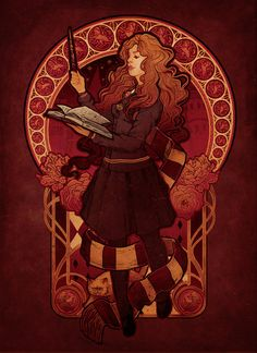 Harry Potter + art nouveau = The Brightest Witch of Her Age by =MeganLara on deviantART
