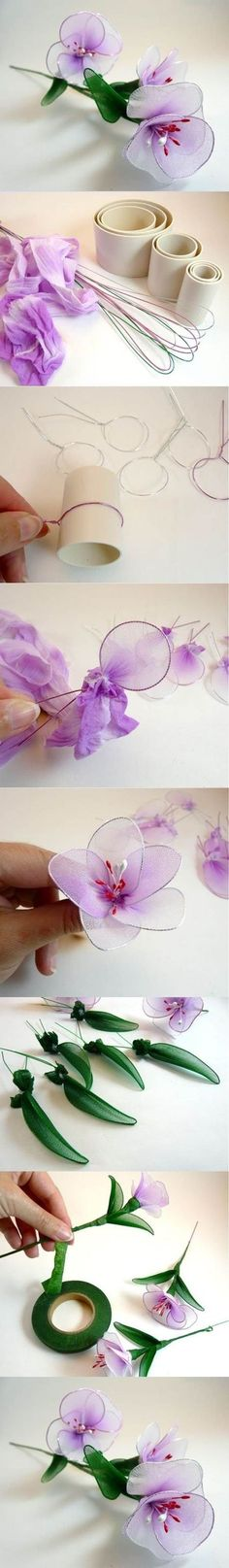 DIY Beautiful Nylon Flowers: