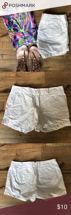 "J. Crew white chino shorts 3"" inseam EUC. No stains, holes or tears. J. Crew Shorts"