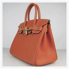 Hermes Birkin 30CM Orangered Gold Bag