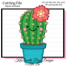 Flower Cactus Cactus Decor, Cactus Art, Cactus Flower, Cactus Plants, Painted Boards, Painted Rocks, Watercolor Flowers, Watercolor Art, Free Adult Coloring