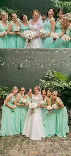 We love this darling bride and her bridesmaids!