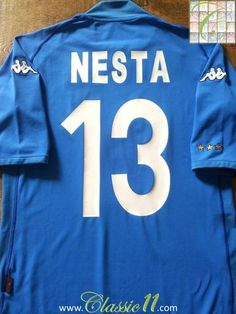 Relive Alessandro Nesta's 2002/2003 international season with this original Kappa Italy home football shirt.