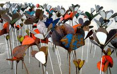 Image result for art installations with tin cans