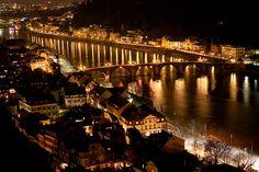 Heidelberg, Germany  at night (by Сhallenger)