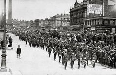 War is over .. Lime St. Liverpool . c1918 / 1919