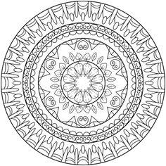 Positive Spirit Mandala Coloring Page By Hamdi R