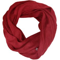 Red Linen Scarf Custom Color Infinity Scarves found on Polyvore featuring accessories, scarves, grey, women's clothing, infinity scarf, infinity scarves, linen scarves, gray infinity scarf and red shawl