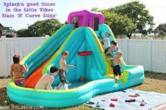 Little Tikes Slam n Curve Slide review  #toys #outdoor #littletikes #summer #kids