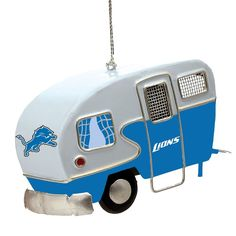 Detroit Lions Camper Ornament