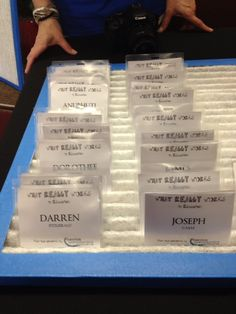 Easy name tag display using an air filter