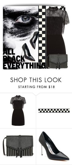 """""""All Black Everything"""" by lustydame ❤ liked on Polyvore featuring Sandro, Isabel Marant and Jennifer Lopez"""