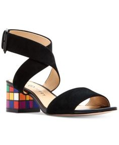329773cbea Katy Perry Margot Multi Color Cube Block-Heel Sandals & Reviews - Sandals &  Flip Flops - Shoes - Macy's