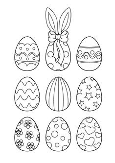 Easter is the oldest & most important festival & kids spend maximum time painting eggs. Check out our collection of free printable Easter egg coloring pages Free Easter Coloring Pages, Online Coloring Pages, Coloring Easter Eggs, Colouring Pages, Free Coloring, Easter Crafts For Toddlers, Easter Art, Easter Activities, Easter Crafts For Kids