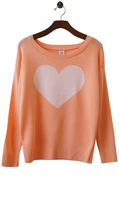 We're totally smittened with this heart sweater; the very definition of playfulness with ladylike chic.  $24