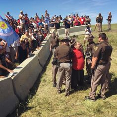 A proposed oil pipeline is set to begin construction on tribal lands in North Dakota. Members of various Native American reservations gathered Monday to try to stop it.