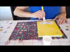 Caderno com forração em tecido