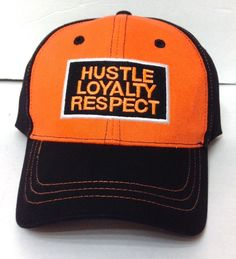 9d24a54c5b3 JOHN CENA HUSTLE LOYALTY RESPECT HAT Orange Black WWE Curved-Bill Men Women   WorldWrestlingEntertainment  BaseballCap