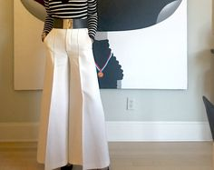 When life gives you lemons... — What Would Wu Wear? White wide leg culottes by Celine with Luisa Spagnoli belt