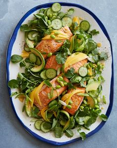 loaded sesame ginger salmon salad recipe