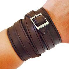 Fitbit Bracelet for FitBit Flex Fitness Trackers -The SKYLER Brown Vegan Leather Buckle Fitbit Bracelet by FUNKtional Wearables