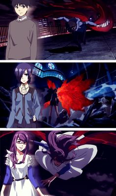 Touka, Ken, and Rize