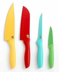 Martha Stewart Collection Colored Coded Cutlery, Set of 4 - Cutlery & Knives - Kitchen - Macy's