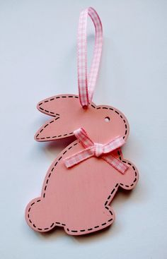 Easter Wooden Bunny Rabbit Hanging Decoration £3.95