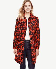 Vine Print Topper Coat