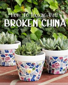 How to mosaic with broken china