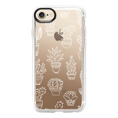 Cactus & Succulents - iPhone 7 Case And Cover ($40) ❤ liked on Polyvore featuring accessories, tech accessories, iphone case, apple iphone case, iphone cases, clear iphone case and iphone cover case
