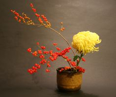 Chrysanthemum and berries
