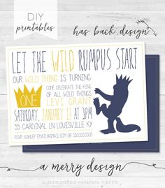 Where The Wild Things Are Let The Wild Rumpus by amerrydesign