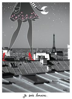 Pin Up, Paris Love, Illustrations, Photos, Pictures, Photo Illustration, Stars And Moon, Art Images, Flower Art