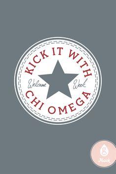 Geneologie   Greek Apparel   Chi Omega   Converse   Welcome Week Sorority Little, Greek Clothing, Bid Day, Chi Omega, Greek Life, Good Books, Cool Style, Greek Apparel, Artwork